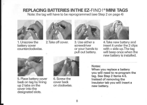 How to replace batteries in the EZ-Find! Mini tags
